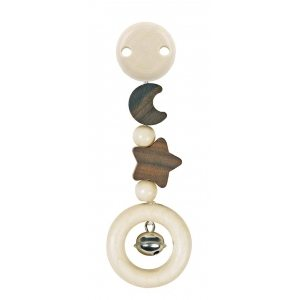 Heimess Wooden Clip Toy – Star and Moon Natural