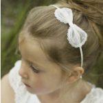 Sophia Ivory Spot Flower Girl Bow Hairband