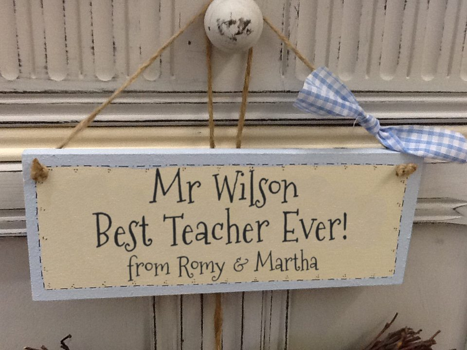 Personalised Teacher Gift: Handmade Wooden Plaques