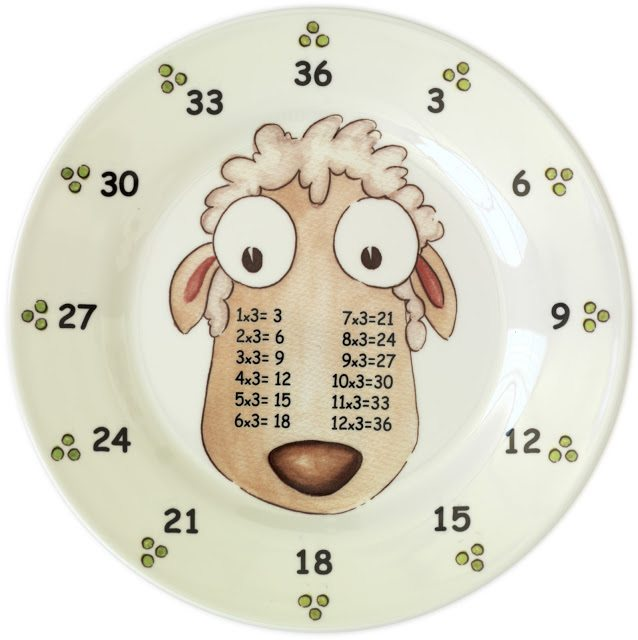 Times Table Plates - Choose any 3