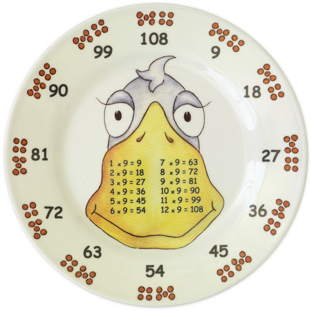 Set of 6 Later Years Times Table Plates