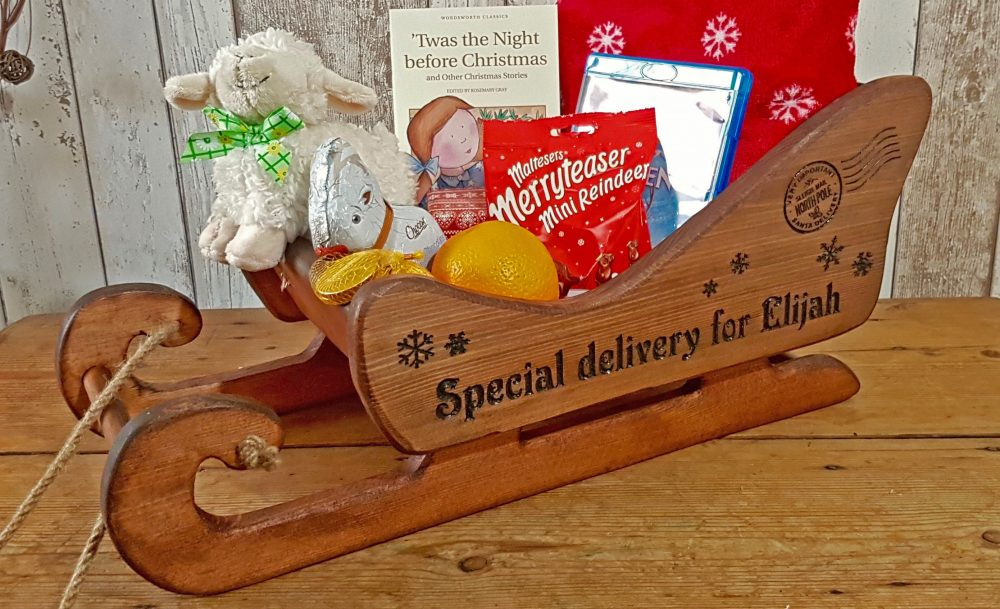 Personalised Christmas Engraved Gift Sleigh