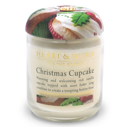 Christmas Cupcake Candle in Jar 30 Hours