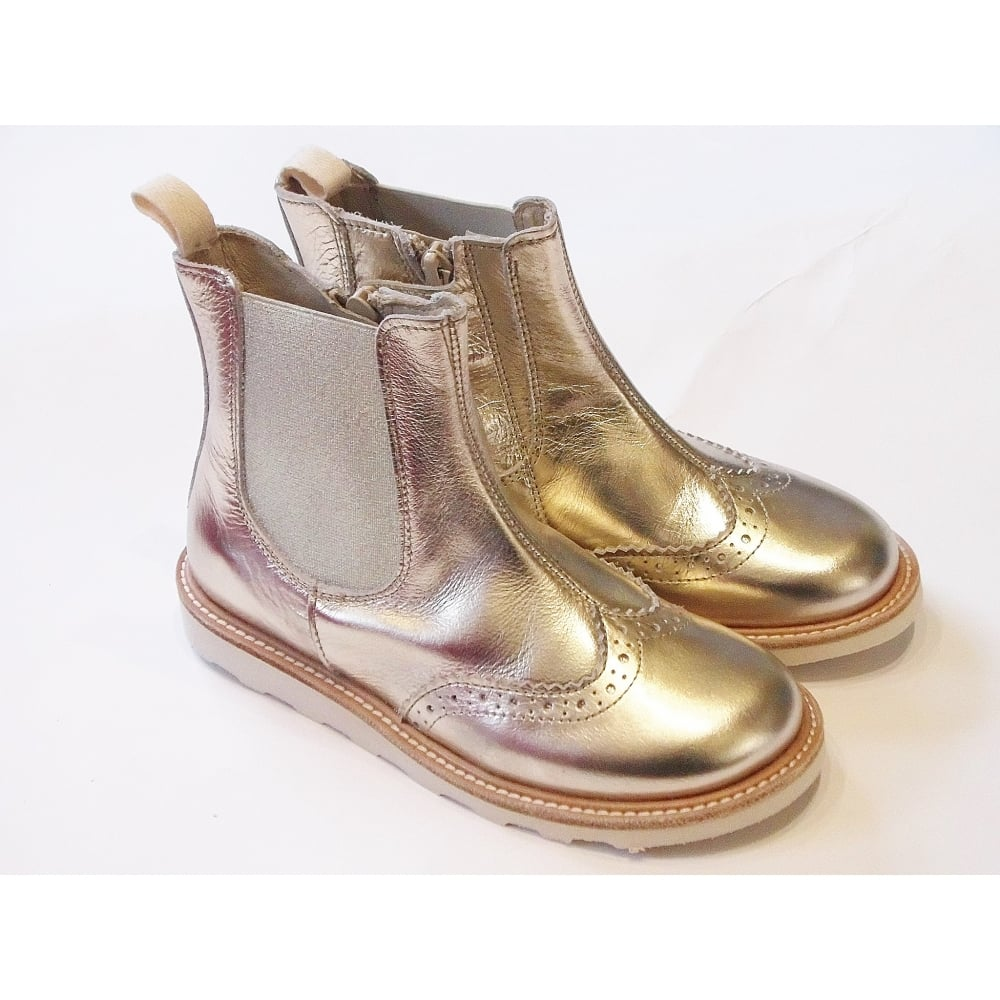 Francis Gold Chelsea Boots