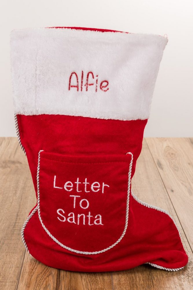 Personalised Letter to Santa Christmas Stocking