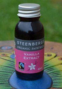 Organic Fairtrade Vanilla Extract 60ml Glass