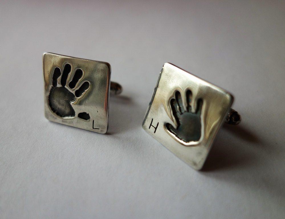 Handmade Print Cufflinks