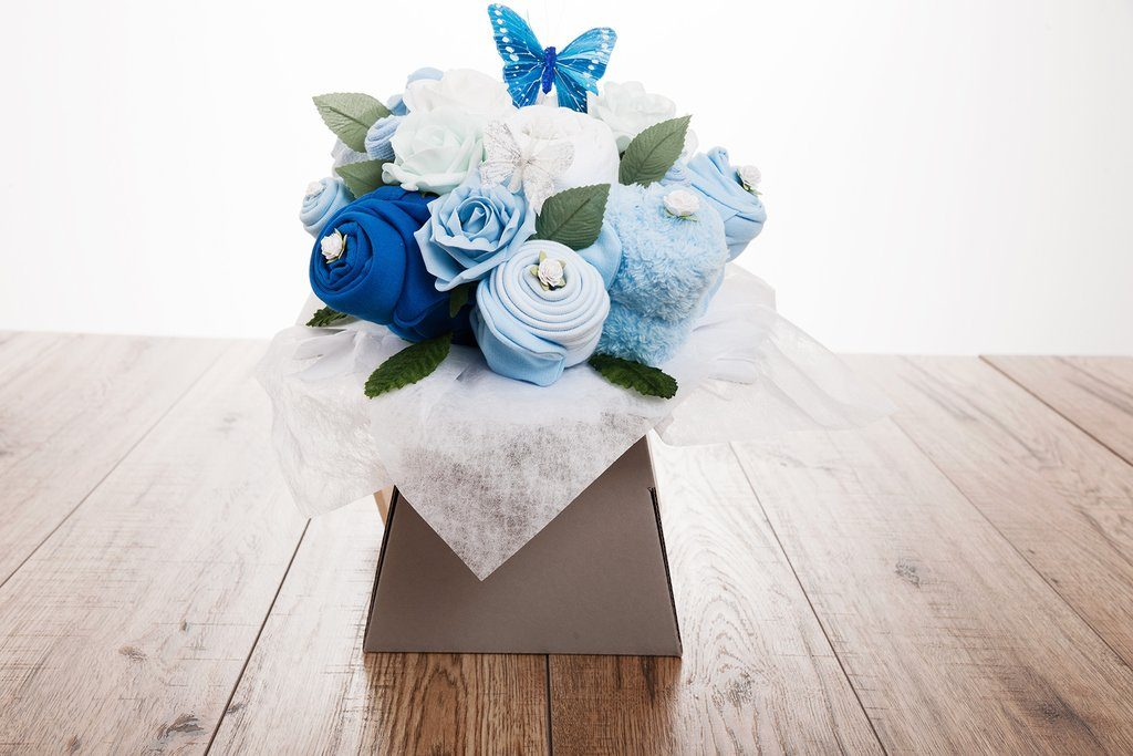 Baby Clothes Bouquet – Blue