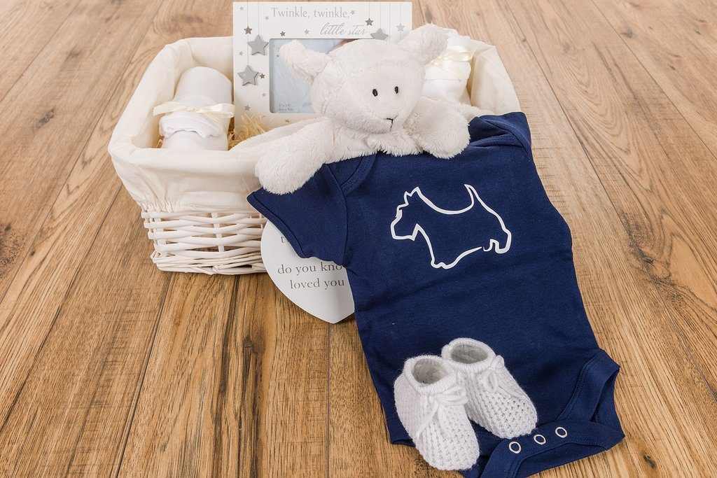 Baby's First Hamper – Urban Caledonia Collection (Scotty Dog)