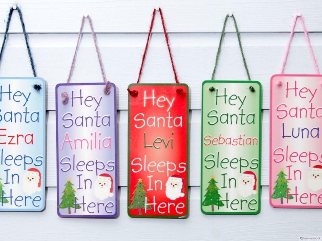 Hey Santa Door Plaque