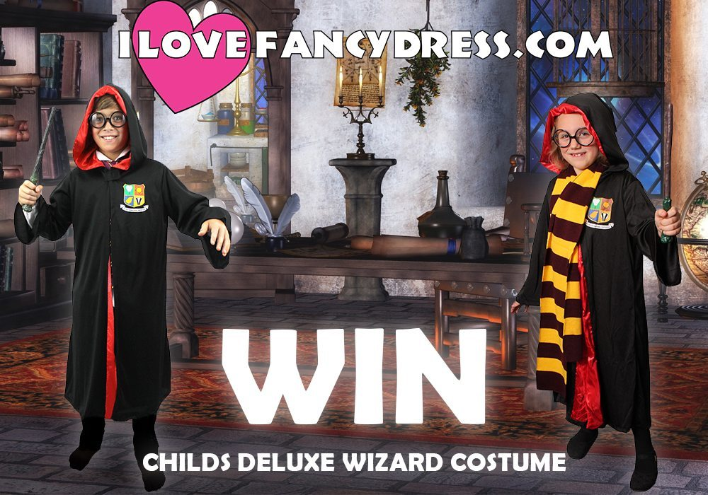 Win a Deluxe Wizard Costume with accessories in time for Halloween 2017