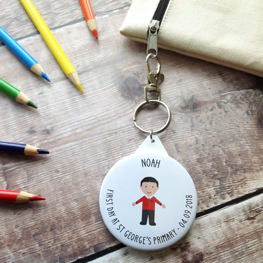 Win a first day at school badge or keyring from Jagsbery