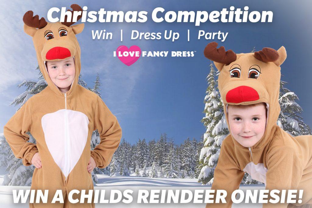 Win a Child's Reindeer Onesie from I Love Fancy Dress