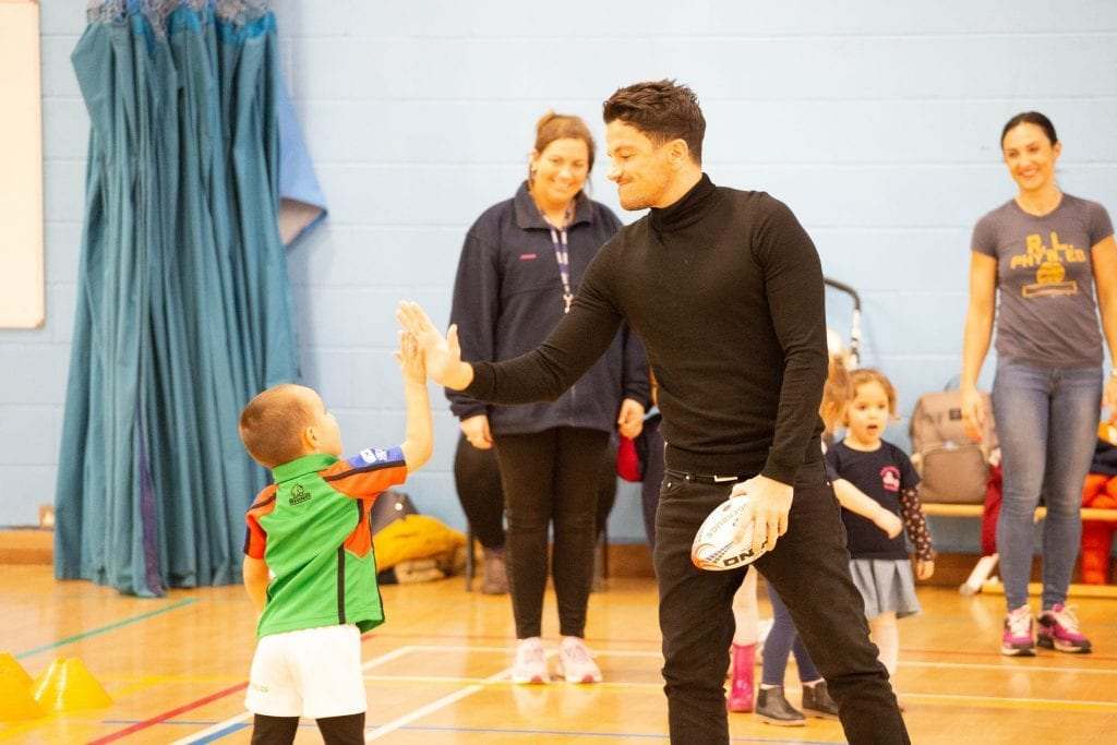 Peter Andre joins Ruggerbugs to celebrate fundraising success