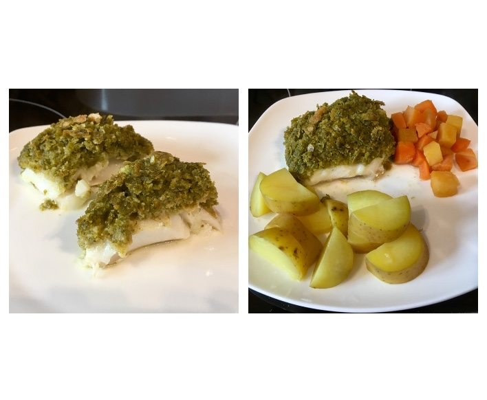 Pesto Crusted Fish